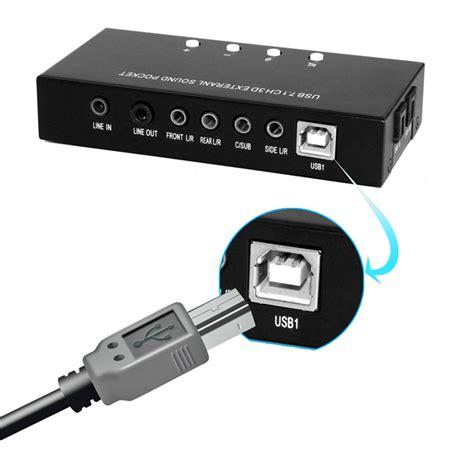 Jual Usb External Sound Card high quality brand new channel 3d 7 1 usb external sound