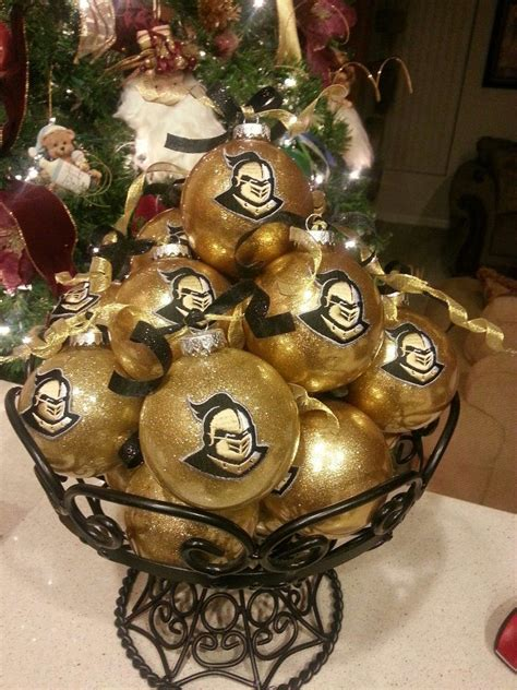 ucf knights christmas ornament easy handmade ornaments black and gold holidays toms handmade ornaments and