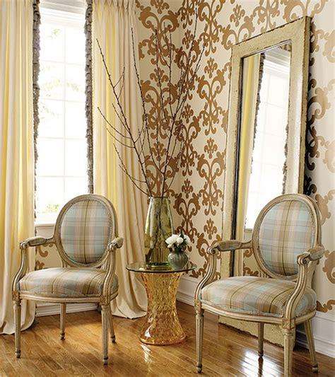 Decorating With Wallpaper by Modern Wallpaper Brown Blue Decor Metallic Dama