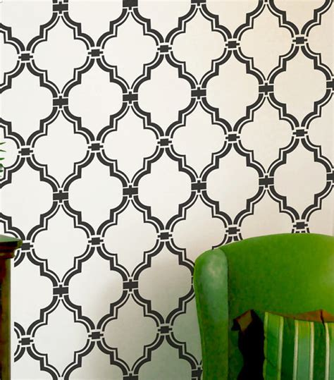 moroccan pattern wall stencil wall stencil moroccan allower pattern by omg stencils