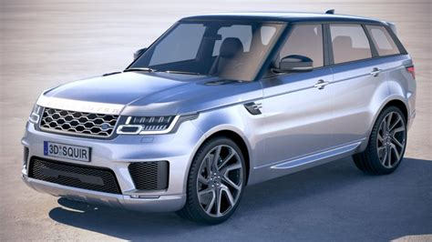 Land Rover 2018 Models by Range Rover Sport Phev 2018 3d Model Cgstudio