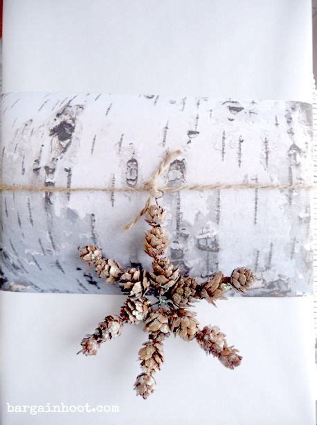 free birch paper printable gift wrapping idea