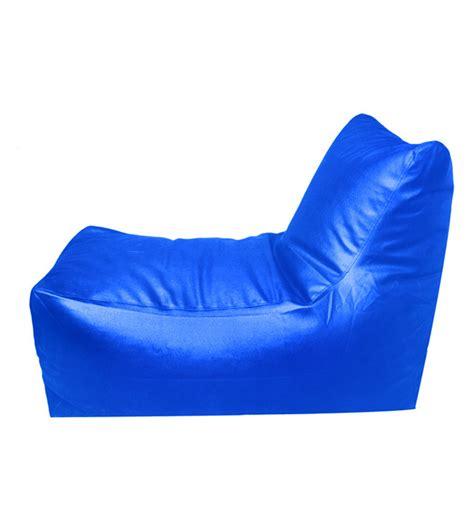 pebbleyard lounger blue bean bag chair with beans by