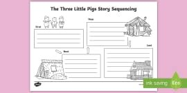 pigs story sequencing teacher