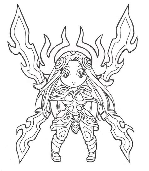 Grey Outline League Of Legends by Irelia Chibi Lineart By Spigarose On Deviantart