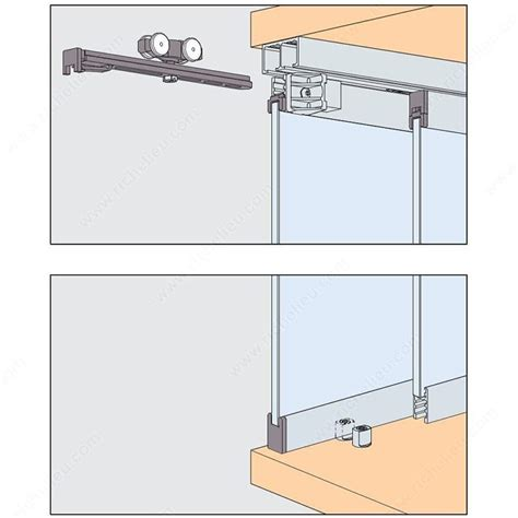 Cabinet Sliding Glass Door Hardware eku clipo 16 gppk is by pass sliding system for 2 glass