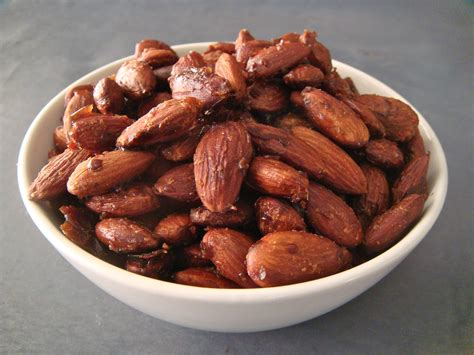 Roasted Nuts maple roasted almonds baked by joanna