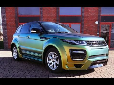 wrapped range rover evoque range rover evoque chameleon vinyl wrap youtube