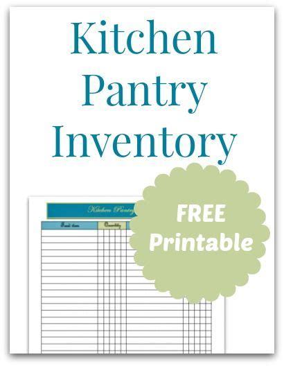Kitchen Pantry Inventory List by 17 Best Images About Management On Pantry