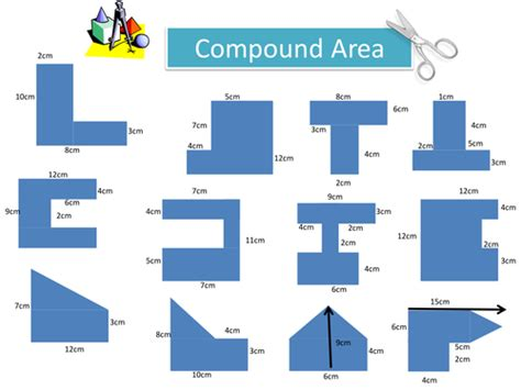 Area Of Compound Shapes Worksheet by Compound Area Worksheet By Holyheadschool Teaching