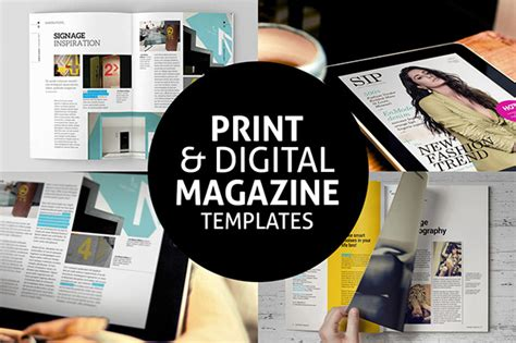 Print Digital Magazine Templates On Behance Electronic Magazine Template
