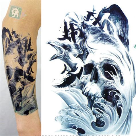 aliexpress com buy 2015 skeleton tattoo designs men