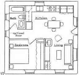Square House Floor Plans by Square House Plan