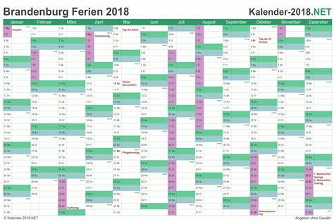 Kalender Brandenburg 2018 Ferien Brandenburg 2018 Ferienkalender 220 Bersicht