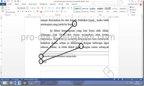 cara membuat catatan kaki ms word 2010 cara membuat catatan kaki di artikel cara membuat catatan