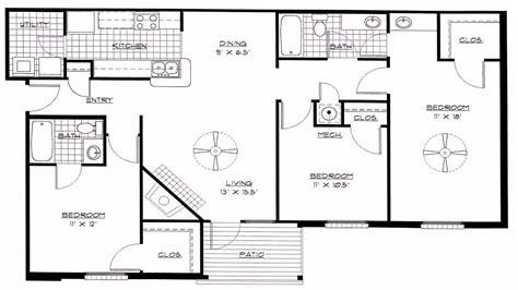 4 bedroom open floor plans 4 bedroom house plans open floor plan