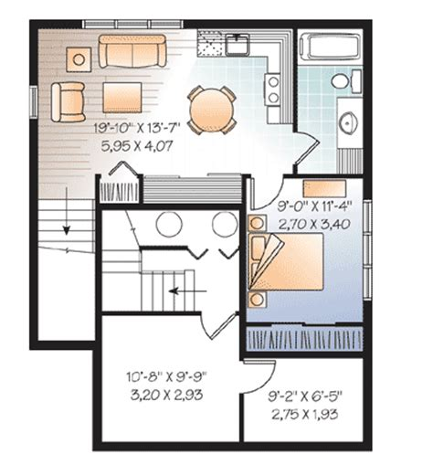 House Plans With Rental Suites by In Suite Or Rental Unit 21892dr Cad Available
