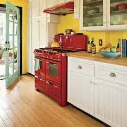 Boring color scheme bold color kitchen makeover this old house
