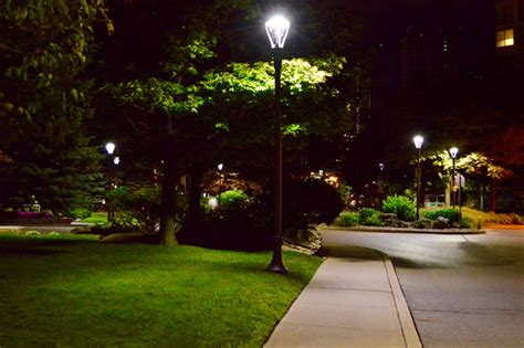 Landscape Lighting Toronto Toronto S Waterfront Neighbourhood Aglow Philips Lumec S Outdoor Lighting Solutions