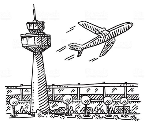 aereo clipart aeroporto di disegno tower building aereo illustrazione