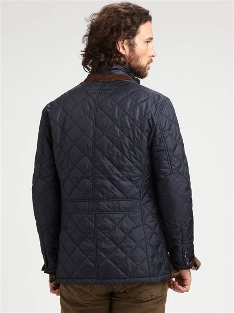 Mens Quilted Sport Coat by Polo Ralph Quilted Sport Coat In Blue For Lyst
