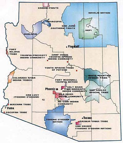 indian reservations in arizona map arizona indian tribes aaa arts