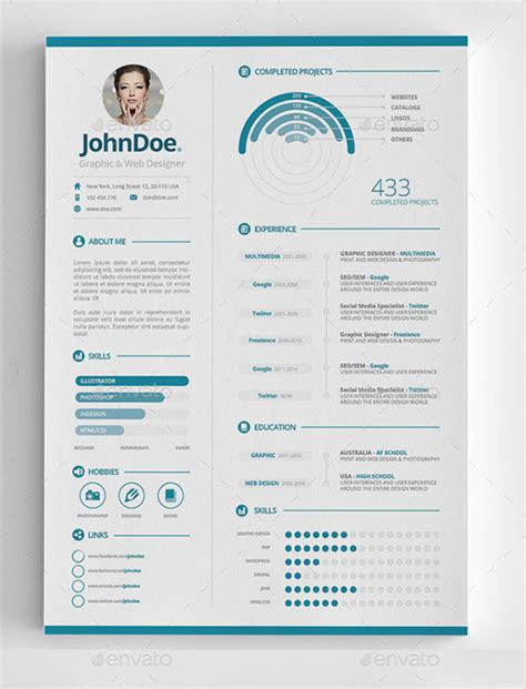 infographic cv template free 25 infographic resume templates free premium collection