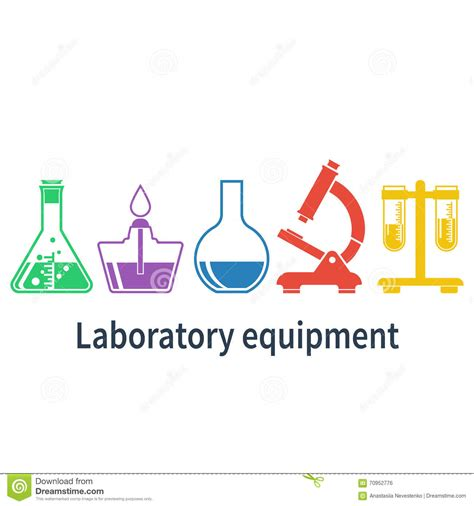 app design elements vector laboratory equipment stock vector image 70952776
