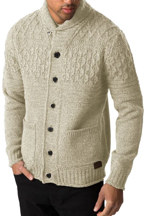 mens oversized knitted jumper threadbare mens knitted cardigan lille button up chunky