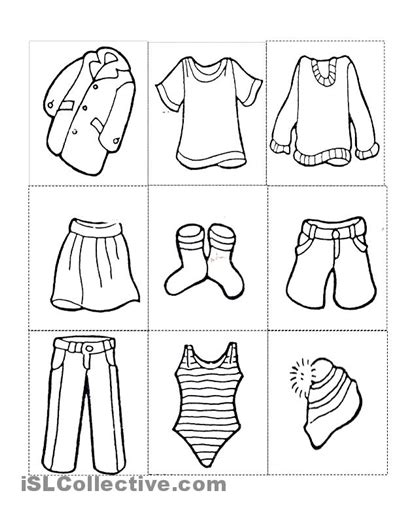 clothes coloring pages pdf clothes free printable kindergarten worksheets