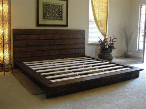 king size pallet bed rustic platform bed storage organization furniture