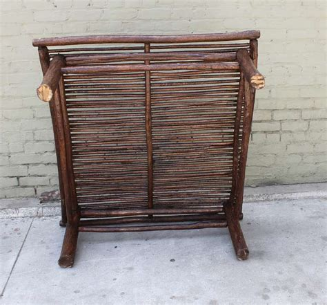Bark Coffee Table Midwestern Rustic Twig And Bark Coffee Table At 1stdibs