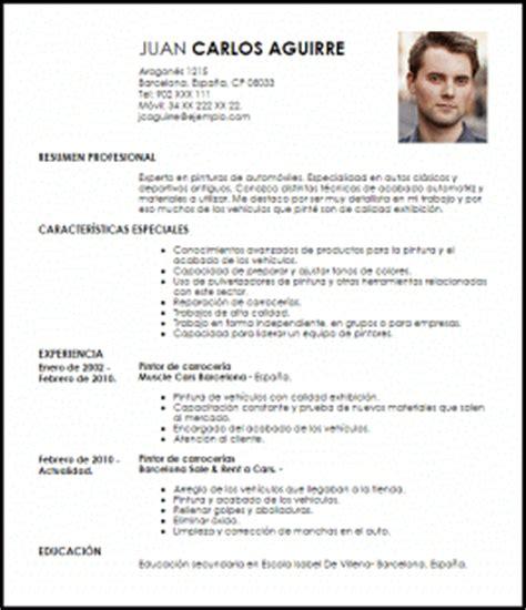 Curriculum Y Modelo Ebi Modelo Curriculum Vitae Pintor De Carrocer 237 A De Autos Livecareer