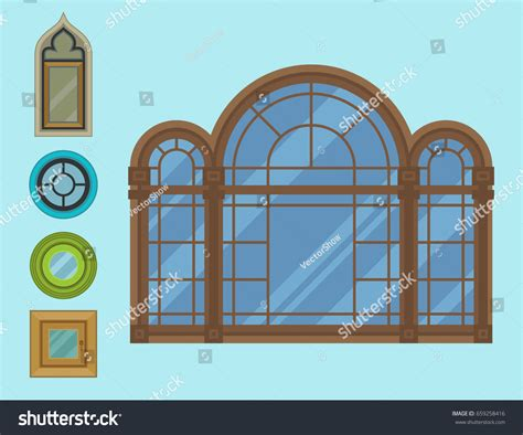 different styles of windows when building a house different types house windows elements flat stock vector 659258416 shutterstock
