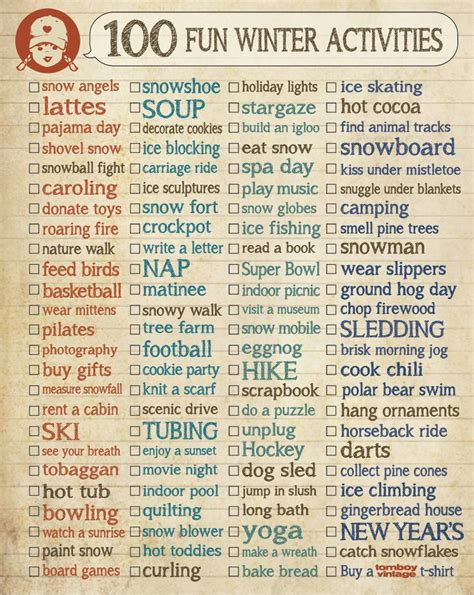 7 Things To Do When Its Snowing Out by 100 Winter Activities To Do List Winter Ideas
