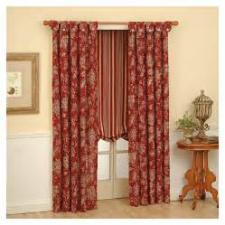 shop waverly 63 in l ruby curtain at lowes com