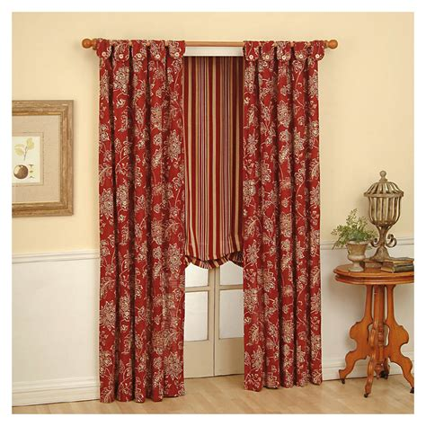 waverly draperies shop waverly 63 in l ruby curtain at lowes com