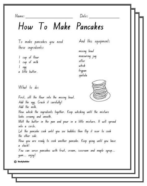 how to make pancake in less than 5 minutes cara membuat how to make pancakes response sheets english skills