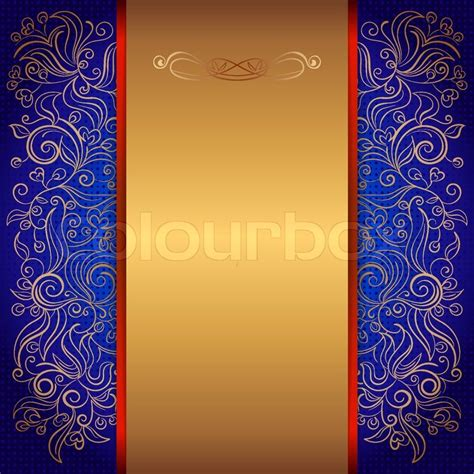 royal invitation card design blue royal template of invitation card with lace pattern