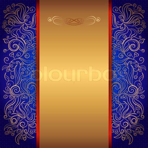 royal invitation card template blue royal template of invitation card with lace pattern