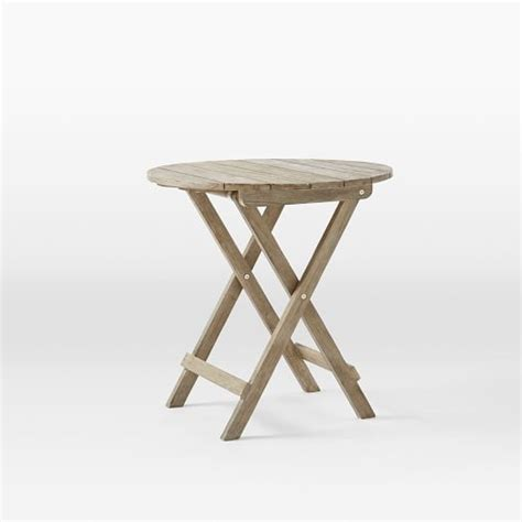 Folding Cafe Table by Jardine Folding Bistro Table West Elm