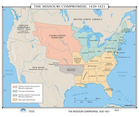 map of united states in 1820 022 the missouri compromise 1820 1821 kappa map