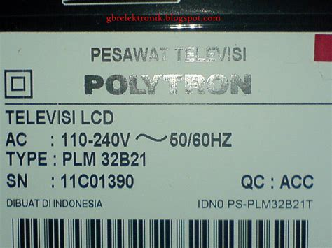 Komponen Tv Lcd Polytron tv lcd polytron 123 mati total elektronik service center l cara service tv