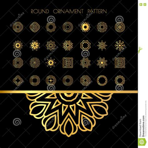 islamic pattern background black gold mandala on black background stock vector