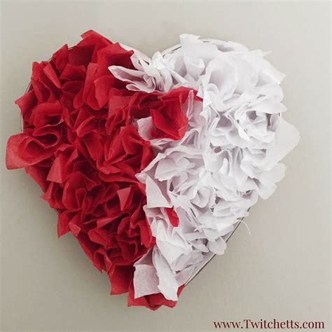 craft paper hearts upcycled tissue paper family crafts