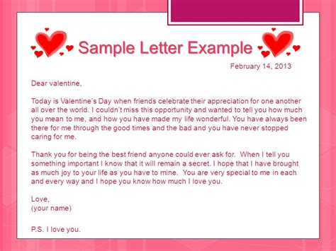 valentines letter for s day letter ppt