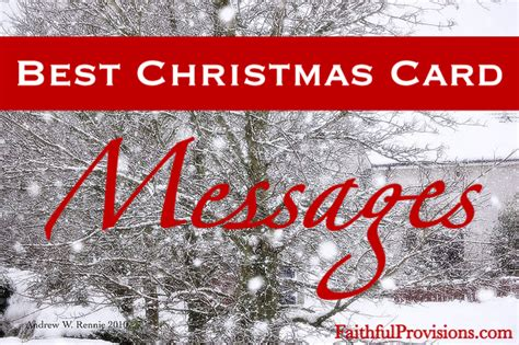 christmas card messages faithful provisions