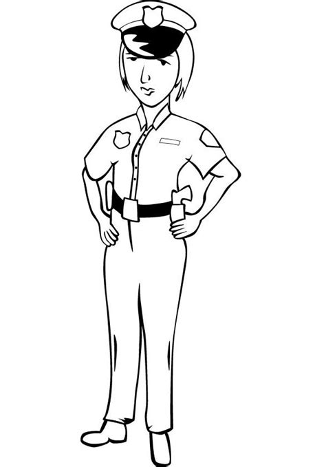 Police Women Coloring Pictures Female Leo Pinterest Coloring Pages Of Officers