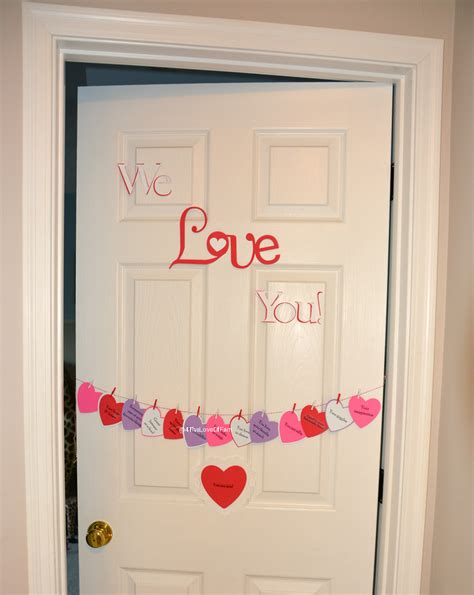 countdown to s day hanging hearts door 4 the