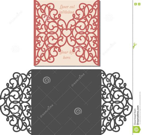 Cutting Templates Card by Laser Cut Envelope Template For Invitation Wedding Card